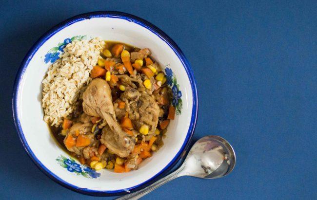 Chicken soup Buddha Bowl